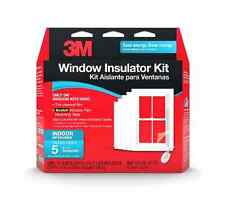 New 3M Indoor Insulator Kit 5 Window Home Winter Energy Saver Clear Film Heat