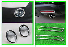 Front + Rear Fog Lamp Fog Light Cover Trim for Ford Explorer 2011 2012 2013 2014