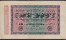 Reichsbanknote 20000 Mark 1923, zwanzigtausend