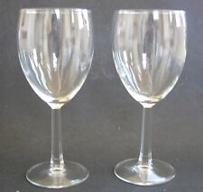 NEW 2 PC SET LARGE CLEAR ALL,MULTI PURPOSE DRINKING CUP+WINE GLASS