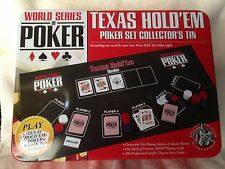 Excalibur World Seies of Poker Texas Hold'Em Poker Set Collector's Tin Ex Con