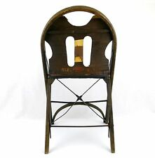 Antique Louis Rastetter Kumfort Vintage Folding Chair Industrial Fort Wayne, IN