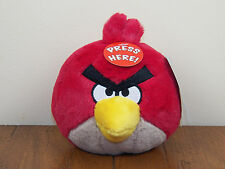 "Angry Birds Red Bird 5"" Plush Stuffed Animal Doll With Sound **NEW W/ TAGS**"