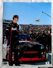 DENNY HAMLIN SIGNED AUTOGRAPH 8.5x11 NASCAR RACING PHOTO SMC COA & GA COA