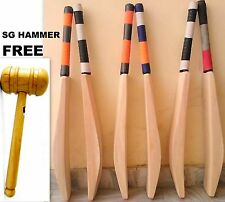 English Willow 8+ Grains Big Edge 40-45mm Cricket Bat WITH FREE ''SG HAMMER""