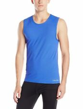 $185 CALVIN KLEIN Air FX MicroFIBER NB1078 BLUE ATHLETIC TANK TOP T-SHIRT SIZE M
