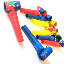 16 x NOISY JAZZY BLOWOUT WHISTLES WEDDING BOYS GIRLS BIRTHDAY PARTY BAG FILLERS