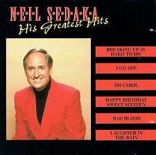 (CD) Neil Sedeka - His Greatest Hits - Oh Carol, Happy Birthday Sweet Sixteen