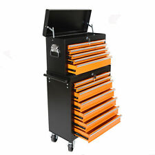 Heavy Duty 16 Drawers Tool Cart Top Chest Box Rolling Toolbox Cabinets Storage