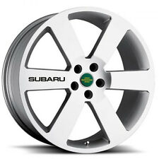 New - 4 Subaru Black Wheels Decal Sticker Emblem Impreza Outback WRX STI
