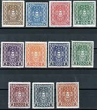 Austria Issues of 1922 SCARCE Complete Set of 11 MNH Scott's 288 to 298