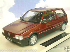 RARE TOP MARQUES/BBR 1/18 RESIN 1985 FIAT UNO TURBO i.e. AMARANT RED MET. TOP02C