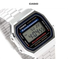 New Casio A168WA-1A Vintage Retro Silver Digital Illuminator Watch A168 A168WG