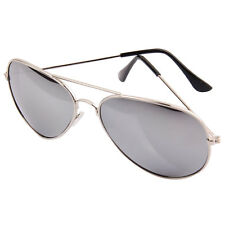 Silver Aviator Pilot Style Metal Sunglasses Frame Shades UV400