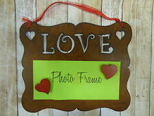 Rustic metal Love hanging picture frame UNIVERSAL SIZE Fits many size photos