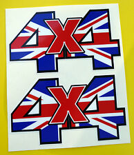4X4 OFF ROAD STICKERS DECALS Union Jack ideal for Land Rover Defender Discovery