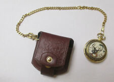 FRANKLIN MINT NATIONAL FISH AND WILDLIFE FOUNDATION POCKET WATCH WITH CHAIN **
