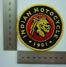 Indian Round Motocycle 1901 ~ Iron Sew On Cloth Patch