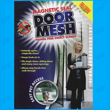 Magnetic Curtain Seal Patio Door Net  Screen Mesh Stops Flys Bug Mosquito Insect