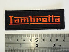 Lambretta SMALL BAR (Orange Text) Patch - Embroidered - Iron or Sew On