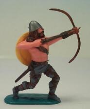 Timpo Toys Wikinger Viking Bogenschütze dunkelgraublaue Hosen mit gelbem Schild