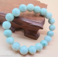Natural Grade A Jade (Green Jadeite) 8mm Bead Bracelet Good Luck