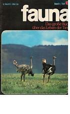 fauna  Das große Buch über das Leben der Tiere - 10 Hefte  Mgazin Novaria - 1971
