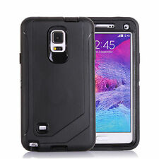 Defender Protective Case Black w/Clip & Protector For Samsung Galaxy Note 4