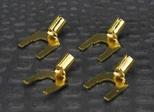 Nerve Audio Gold Spades Plug 10-12 AWG set of 4 Spade Plugs DIY Copper