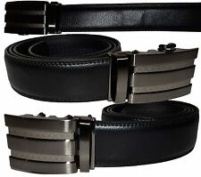 Men's Leather Quick-Click belt, (L) leather Dress belt, Casual belt, Brand New