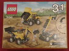 Construction vehicles LEGO Creator 3 in 1 Construction set 31041 Toy for child