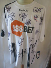 Bolton 2009-2010 Squad Signed Home Football Shirt COA large /34397