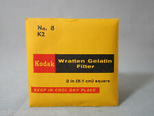 KODAK WRATTEN GELATIN GEL FILTER ( No.8 K2 ) for Bolex filter slot frame VINTAGE