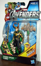 "THE AVENGERS Movie Collection_Cosmic Spear LOKI 3.75 "" figure w/ Snap-Out Blades"