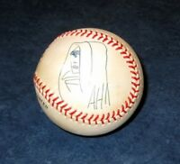 signed original art sketch by ADAM HUGHES GHOST 1995 MLB BASEBALL leather COA