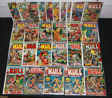VINTAGE MARVEL SILVER BRONZE KULL CONQUEROR COMIC LOT 27pc #1-29 1ST APP 6.0-8.5
