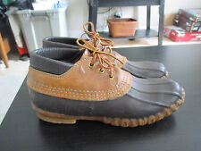 LL Bean Maine Hunting Shoes BOOTS size 8 Womens Rubber Brown Leather Duck
