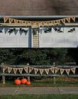 12' Halloween Banner Trick or Treat Happy Halloween Pennant Flags Outdoor Sign