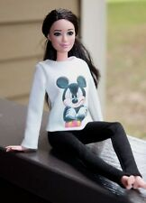 "Clothes for Barbie Doll. Blouse ""Mickey Mouse"" and leggings for Dolls."