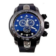 Black Mens Watch Geneva Metal Oversized Designer Fashion Silicone Sport Wrist