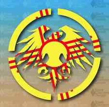 """Never Summer New Mexico State Flag ZIA 5"""" Snowboard Custom Vinyl Decal Sticker"""