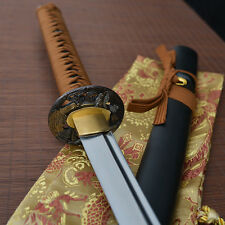 41' hand forged full tang 1060 blade japanese Katana samurai real sword brown