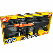 Kids Toy G36C Rifle Gun With Scope Silencer Battery Operated With Lighting,