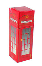 "Joy of Light Designer Red London Telephone Booth Embossed Matte 4.5"" Matchbox"