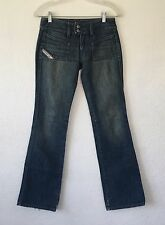 """Diesel Hush-DS Style womens Size 25 X 32"""" Designer Distressed Jeans"""