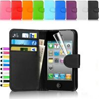 Wallet  Flip PU Leather Case Cover For iPhone 5 5S , ScreenProtector&STYLUS PEN