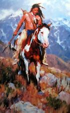 The Wanderer By Jason Rich Native American and Horse Print   15 x 24