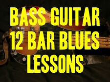 Bass Guitar 12 Bar Blues Lessons! The True Roots Of All Great Music. GROOVY!