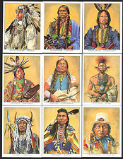 CIGARETTE/TRADE/CARDS. Imperial Publishing. NATIVE NORTH AMERICANS. (Set).(1995)
