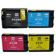 4 pack 932xl 933xl ink cartridges for HP officejet 6100 6600 6700 7110 7610